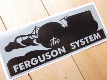 "Ferguson System Tractor Black & Grey Sticker. 8.5""."