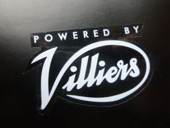 "Villiers 'Powered By Villiers' Clear Stickers. 2"" Pair."