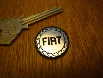 Fiat Logo Circular Laser Cut Self Adhesive Car Badge. 25mm.
