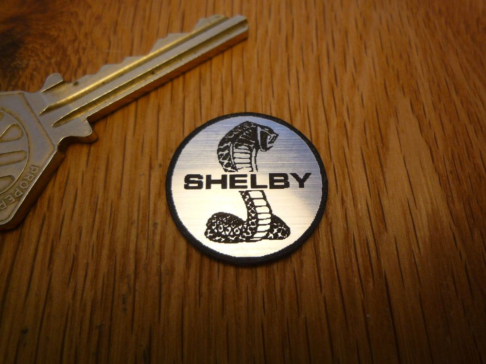 Shelby Cobra Circular Laser Cut Self Adhesive Car Badge  25mm