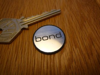 Bond Logo Circular Laser Cut Self Adhesive Car Badge. 25mm.