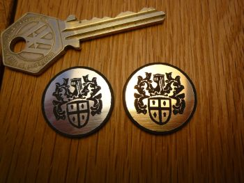 Austin Crest Logo Circular Laser Cut Self Adhesive Car Badge. 25mm.