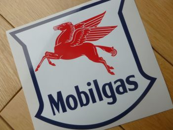 "Mobil Mobilgas Shield Sticker. 6""."