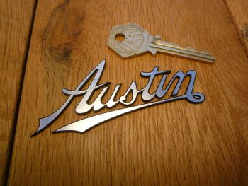 "Austin Old Script Style Self Adhesive Car Badge. 3.5""."