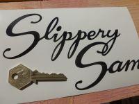 Triumph Slippery Sam Cut Vinyl Script Text Sticker. 7