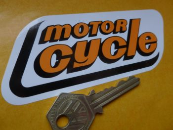 Motor Cycle Weekly Paper Parallelogram Sticker. 120mm.