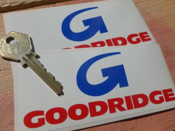 "Goodridge Old Style Stickers. 5"" Pair."