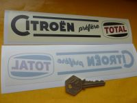 Citroen 'Prefere Total' Old Style Window Sticker. 8