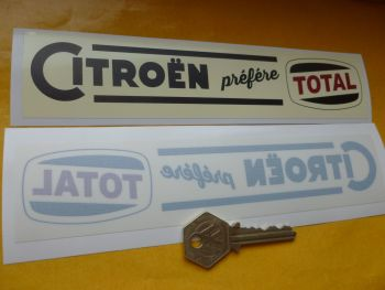 "Citroen 'Prefere Total' Old Style Window Sticker. 8""."