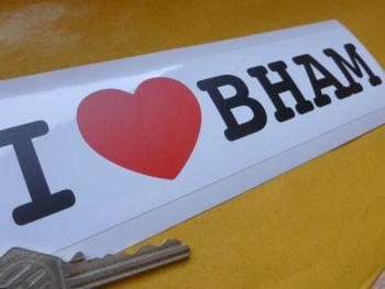 "I Love BHAM Birmingham Oblong Sticker. 8""."
