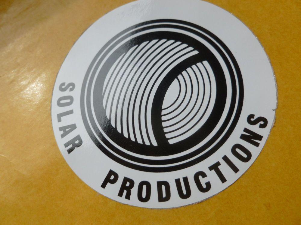 "Solar Productions Circular Sticker. 3"". Steve McQueen LeMans etc."