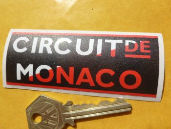 "Monaco Circuit Oblong Window or Body Sticker. 3.5""."