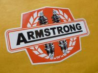 """Armstrong Twin Shock Absorber Orange Stickers. 4"""" or 6"""" Pair."""