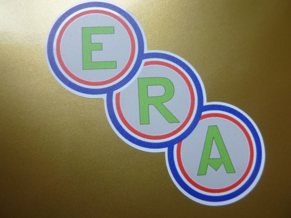 "ERA Shaped Car or Window Stickers. 3"" Pair."