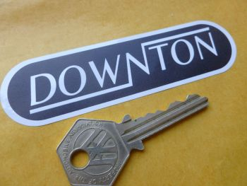"Downton Black & White Rounded Oblong Stickers. 4"" Pair."
