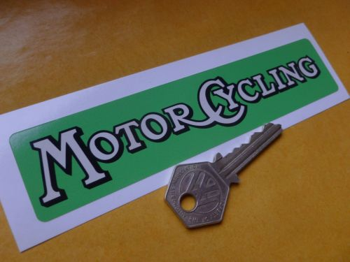 Motor Cycling Weekly Paper Sticker. 6