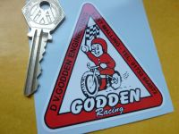 Godden Racing Classic Triangular Sticker. Speedway Grass Track etc. 3
