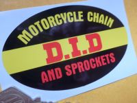 """D.I.D Motorcycle Oval Chain & Rim Sticker. 4""""."""
