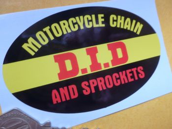 "D.I.D Motorcycle Oval Chain & Rim Sticker. 4""."