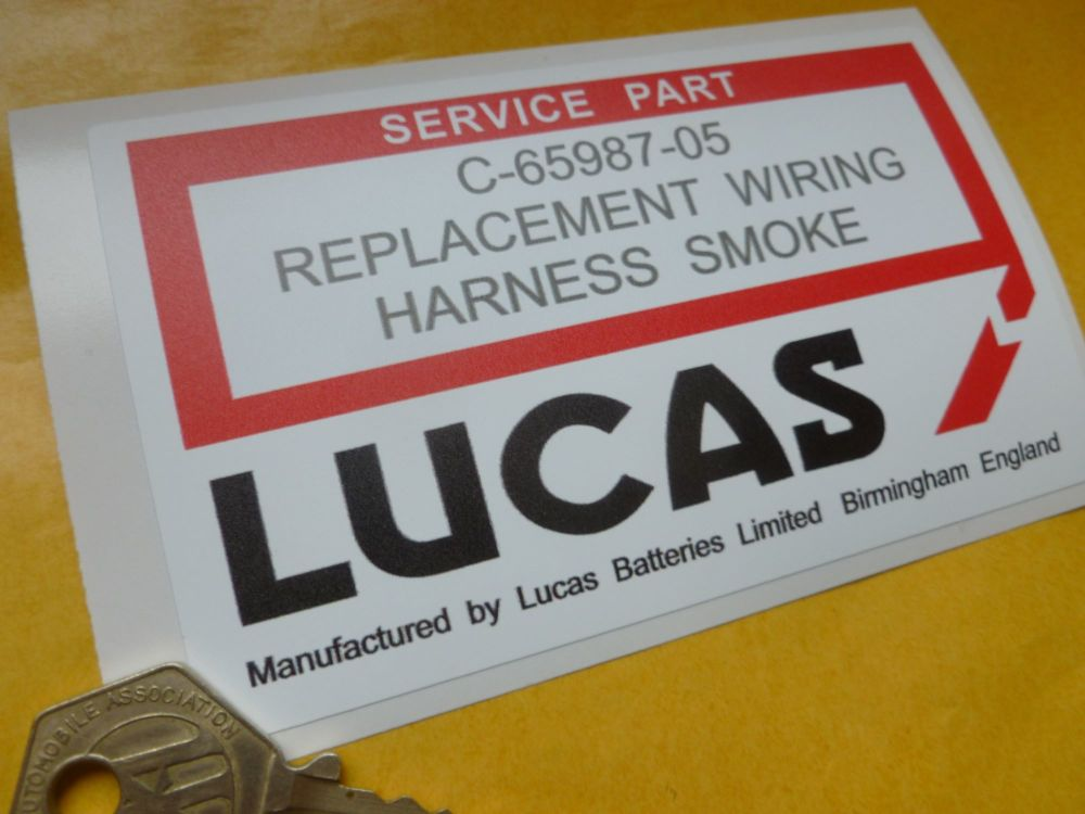 lucas replacement wiring harness smoke sticker 4 5 u0026quot