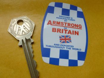 Armstrong of Britain 60's & 70's Shock Absorber Barrel Shaped Stickers. 70mm Pair.
