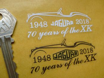 "Jaguar 70 Years of XK Sticker. XK120 XK140 XK150. 3""."