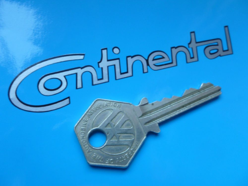 "Continental Cut Vinyl Sticker. 4""."