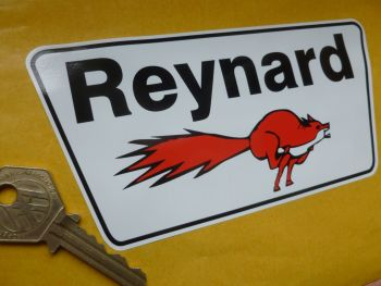 "Reynard Trapezoidal Shaped Sticker. 6""."