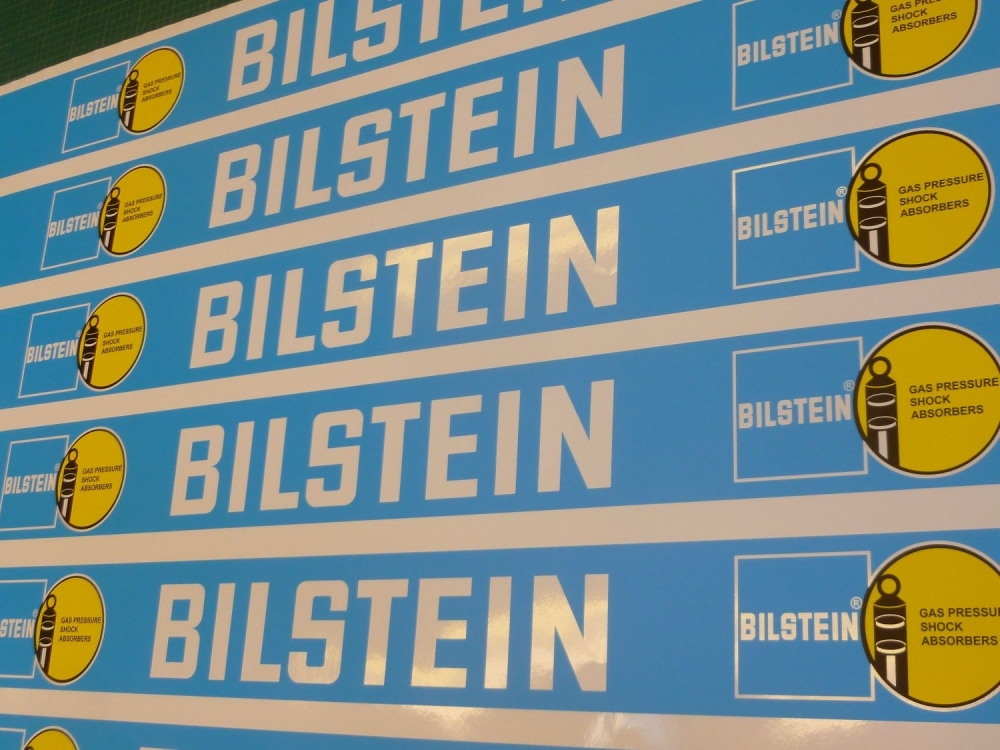 "Bilstein Race & Rally Coloured Screentop Sunstrip Visor. 55""."