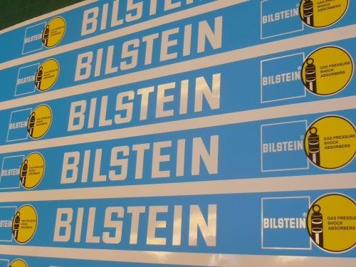 Bilstein Race & Rally coloured Screentop Sunstrip Visor. 55