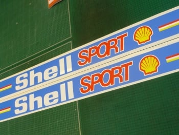 "Shell Sport Race & Rally Coloured Screentop Sunstrip Visor. 55""."