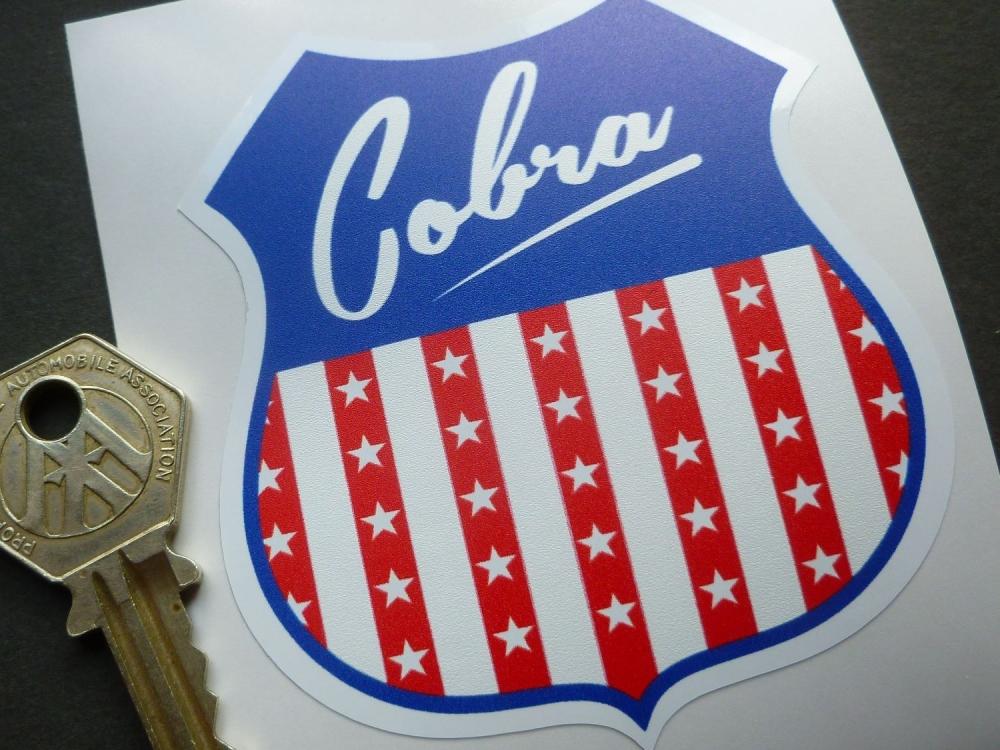 "Cobra USA Shield Body or Window Sticker. 4""."