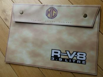 MG RV8 Beige Large Document Holder Bag. A4.