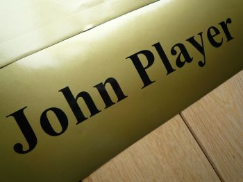 "John Player Cut Text Sticker. 8"" or 10""."