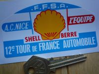 12e Tour de France Automobile Rally Plate Style Sticker. 4