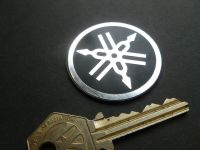 """Yamaha Tuning Forks Circular Self Adhesive Badge. 1.75""""."""