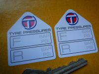 "Talbot Tyre Pressure Stickers. 1.75"" Pair."