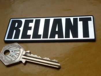 "Reliant Oblong Body Badge Style Self Adhesive Car Badge. 4""."