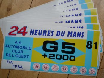 "24 Heures Du Mans LeMans Le Mans 1981 Group G5 Class Sticker. 12""."