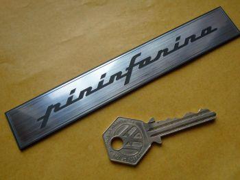 """Pininfarina Later Style Oblong Text Self Adhesive Car Badge. 5.75""""."""