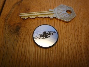 Morgan Circular Self Adhesive Car Badge. 24mm.