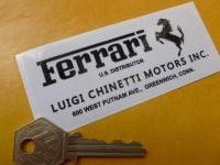 "Ferrari Luigi Chinetti Motors Inc Sticker. 4""."