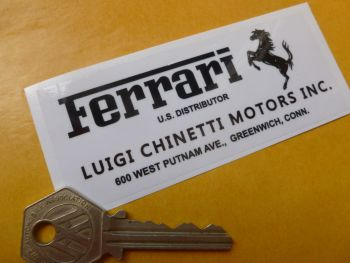 "Ferrari Luigi Chinetti Motors Inc Sticker. 4""."