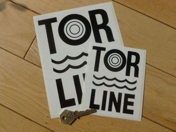 "Tor Line Channel Ferry Race & Rally Sponsor Sticker. 5"" or 7.5""."