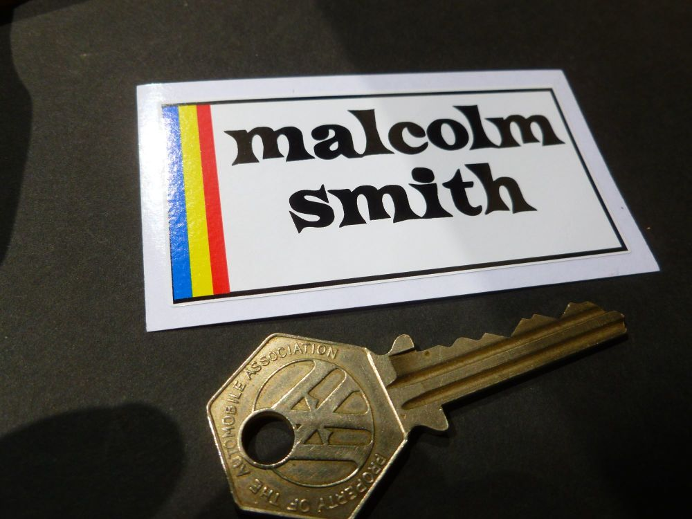 Malcolm Smith Products Oblong Sticker. 76mm
