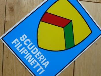 """Scuderia Filipinetti Stickers. 4"""", 5"""", 7"""", or 8"""" Pair."""