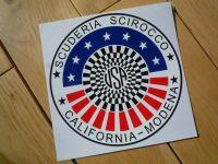 Scuderia Scirocco Circular Sticker. 5.75