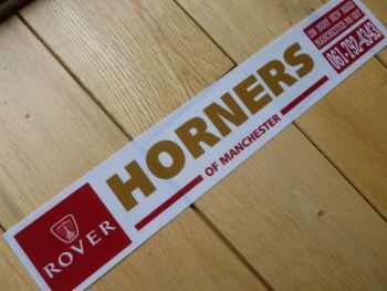"Rover Horners of Manchester Dealer Sticker. 12""."