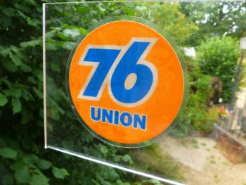 "Union 76 Old Style Window Sticker. 4""."