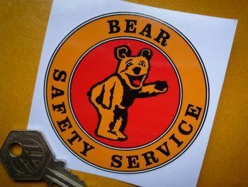 "Bear Safety Service Circular Sticker. 3""."